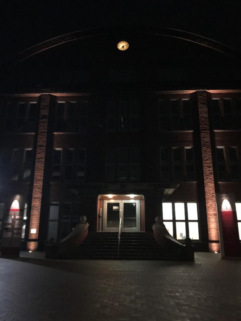 Fassadenbeleuchtung mit LED-Technik Zeche Ahlen